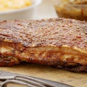 pork belly in milk