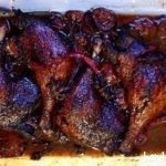 Sweet Muscovy duck cooked with plums and star anise