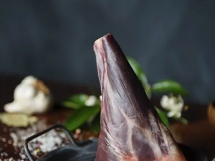 Wild harvested venison shanks