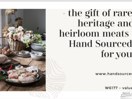 Hand Sourced Gift Certificate