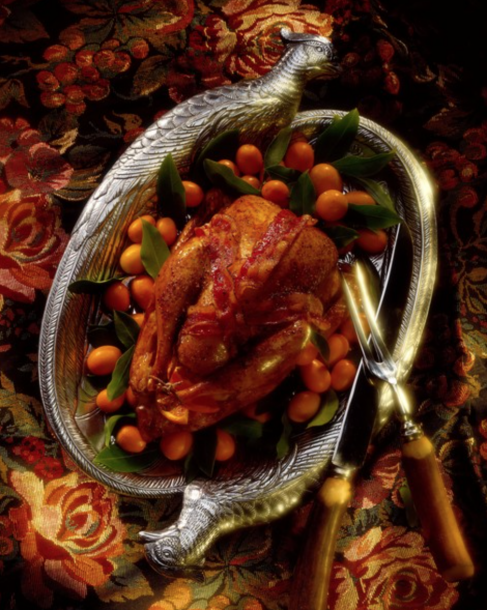 pheasant with bacon and cumquats